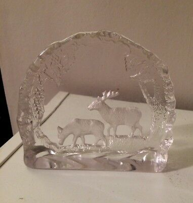 Glass/Crystal Stag Deer Animal Ornament Collectable