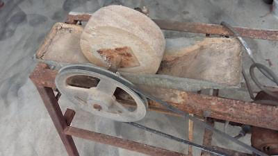 Vintage Stone Grinding Wheel.blacksmith,blade,old,house,woodwork,tools,garden,