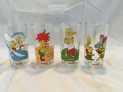 The Simpsons nutella glasses, rare collector glasses 1998