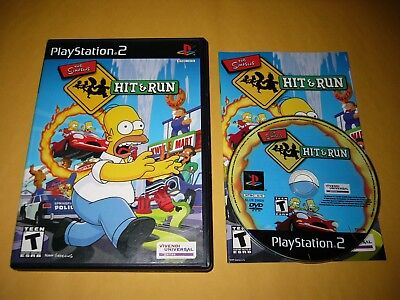 Simpsons: Hit & Run (Sony PlayStation 2, 2003) 100% COMPLETE Clean Tested Fun