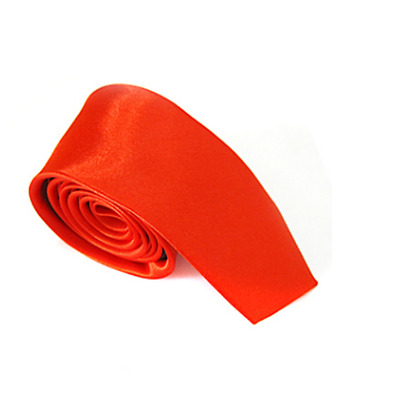 Classic solid color Tie Slim Neckties for Wedding Party Office Gift Colour Red