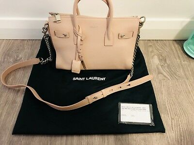 Saint Laurent Baby Sac De Jour Souple Duffle Bag (Beige Pink Calf Leather) 76c08378c2ecf