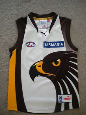 Hawthorn Hawks Clash Guernsey Jumper Signed.  Kids Size But Still A Rare 1 2 C