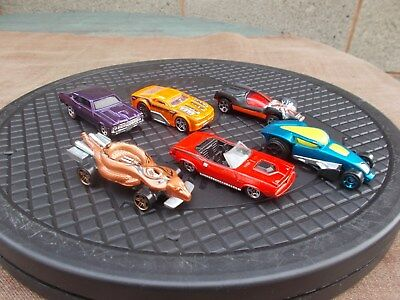 Job Lot Of 6 Assorted Old & New Hot Wheels 14-Used/mint/unboxed