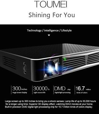 Projector 3D 1080p TOUMEI V3 DLP Home Theater Support Wireless And Bluetooth