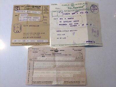 Rare World War 2 Military Cable & Wireless Telegram With 1942 43 45 Date Stamps