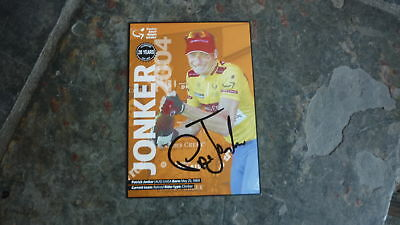 Cycling Champion Patrick Jonker Hand Signed Tour Down Under Winners Postcard