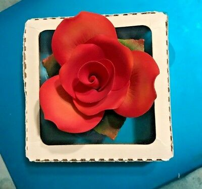 Limoges Encore Red Rose Porcelain Piece NEW IN BOX
