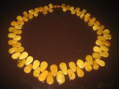 Bernstein Kette, Collier, 75 Gramm, Butterscotch, Amber Necklace