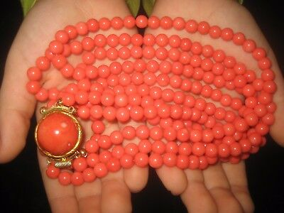 Korallen Kette , Collier, Coral Necklace, 103 Gramm