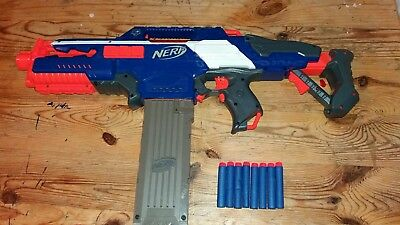 Nerf gun N-Strike Elite Rapidstrike CS-18 With Darts And 8 Dart Mag .Fully Auto