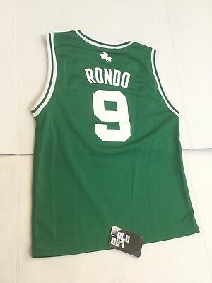 51b00d2dd Adidas Boston Celtics Rajon Rondo Green NBA Basketball Jersey Youth M  Women s S