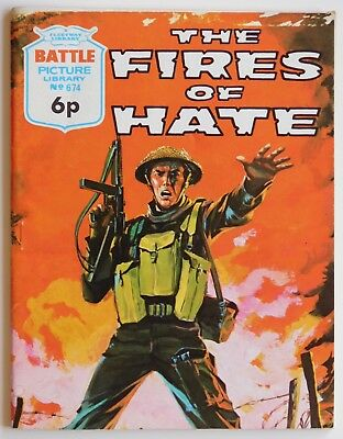BATTLE PICTURE LIBRARY #674 - 1972 (War, Commando)