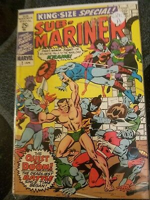 Sub-Mariner King-Size Special #1 - The Quest Of Doom! - Very Good Condition 1971