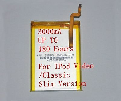 3000mAh Battery Upgrade replacement for iPod Classic 6 6.5 7 Video 5 5.5 Thin!!