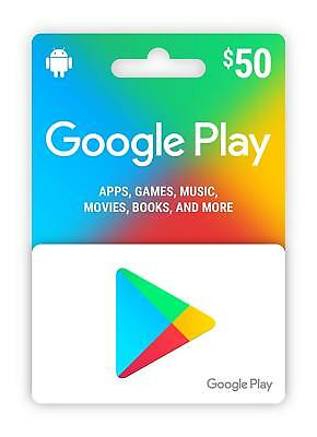 $50 USD Google PLAY Store - 50 Dollar Google Play - Digital Code