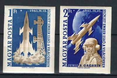 SPECIALS - Hungary 1961. Space, Gagarin, the first flying IMPERF set MNH (**)