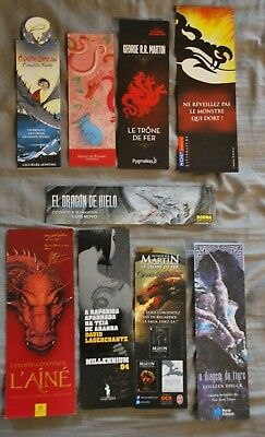 9 marque pages thème dragon - Editions diverses - dragon bookmarks