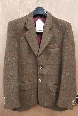 New ** Men's Caldene Tweed Hacking Jacket Show Hunting Country Casual 38""