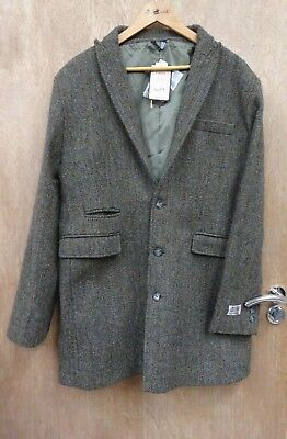 "New ** Mens Traditional 100% Wool** Harris Tweed Coat Jacket Size Med /40"" Chest"