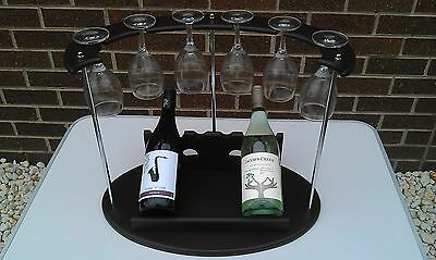 Wine bottle holder, wine rack, wine bottle counter, mini wine glass holder