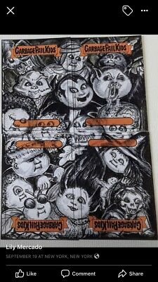 Sealed GARBAGE PAIL KIDS LOADED SKETCH CARD Lily Mercado Nasty Nick