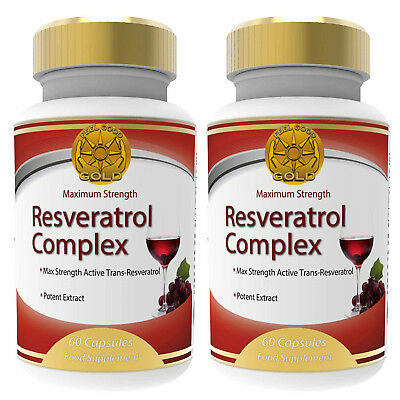 2x Trans-Resveratrol Ultra Complex 150mg Max Strength Dietary Supplement