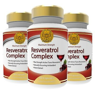 3x Trans-Resveratrol Ultra Complex 150mg Max Strength Dietary Supplement