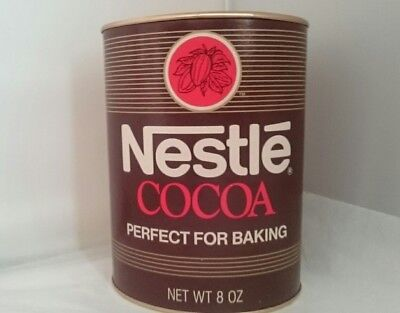 Vintage Nestle Cocoa Tin cardboard container Tin Lid and Base