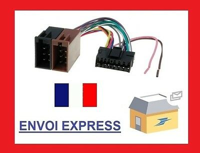 cable connecteur iso sony cdx-gt100 cdx-gt111 cdx-gt121 cdx-gt