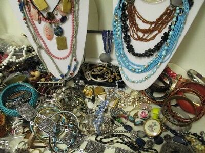 Large Job Lot Vintage Costume Jewellery, Wear and Repair, Broken,  7KGS, LOT12