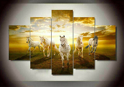 Wall Art Pictures Running Horse Large Modern Home Wall Decor Abstract