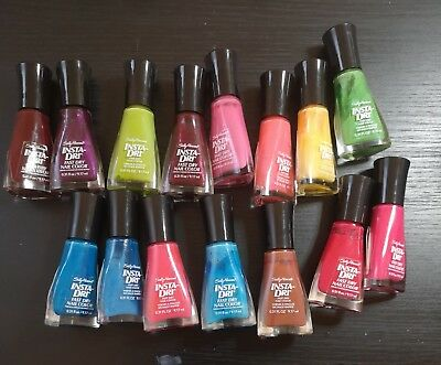 Job Lot Bundle Sally Hansen Insta Dri Nail Polish Varnish Stamping Nail Art