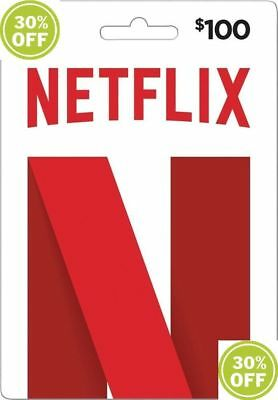 $100 Netflix Gift Card US 30% FAST EMAIL DELIVERY DISCOUNTED CHEAPEST