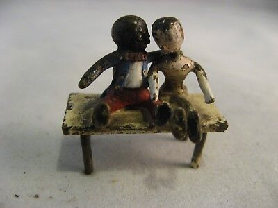 Miniature Cold Painted Bronze Doll Figure