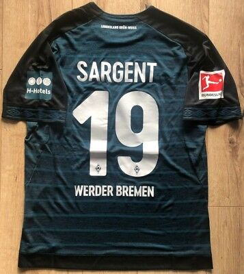 Umbro Werder Bremen away Trikot L Jersey #19 SARGENT US Soccer Player Issue SVW