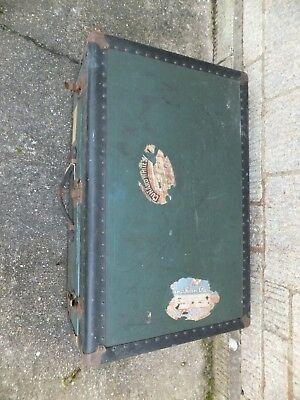 Old antique steamer trunk. Used by my Great Grand father on voyages to Canada.