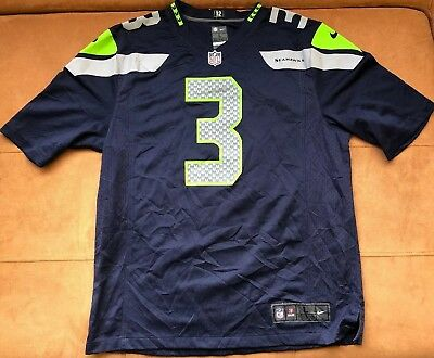 Authentic Nike Seattle Seahawks Russell Wilson  3 Football Jersey Adult  Size L 031b84c70
