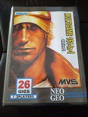 SNK Neo Geo MVS Emty Shock Box With Included 161 Cart Art Work NO GAME INCLUDED