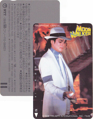Michael Jackson Carte Telephone Phonecard MOONWALKER Phone Card JAPAN 1988