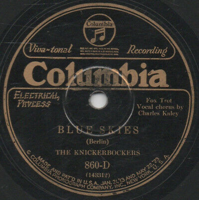 "78er Hot Dance Music The Knickerbockers (=Ben Selvin) ""Blue Skies"""