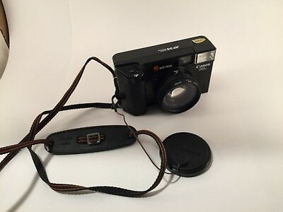 Canon AF35ML 35mm Film Point & Shoot Camera 40MM f/ 1.9 Lens Tested Note