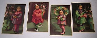 lot of 4 vintage antique artistic Chinese postcards San Francisco California