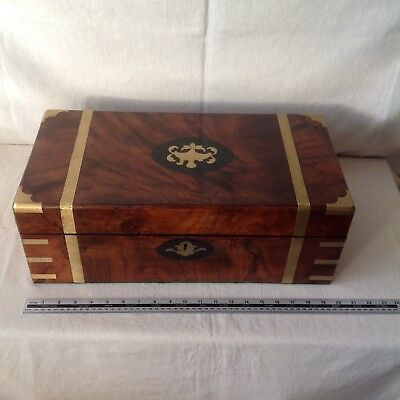 Handsome Victorian Collectors/Deeds/Gun Box With Brass Fittings