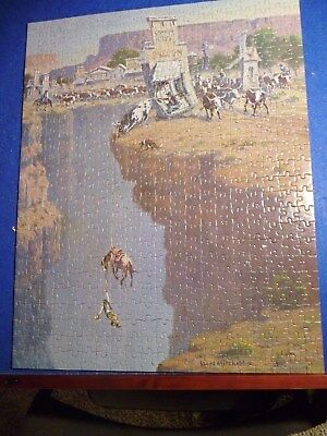 """Vintage 1984 Jigsaw Puzzle Lloyd Mitchell Hang In There 16x20"""" Leanin Tree"""