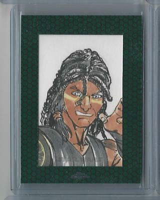 Topps Star Wars Chrome Perspectives Sketch 2015 Quinlan Vos