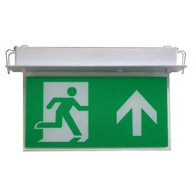 LED maintained emergency light running Man exit sign interchangeable  direction