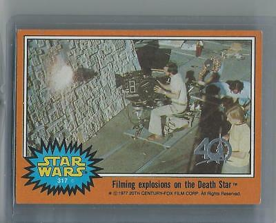 Topps Star Wars 40th BuyBack Orange 1977 Card 317 Filming Explosions Death Star