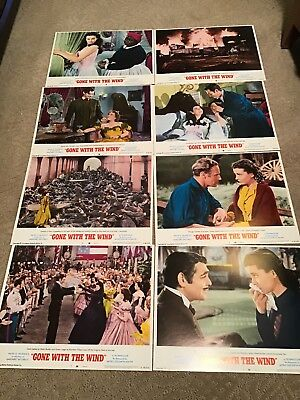 1968 Lobby Cards Set Gone With The Wind Orig Art Poster Movie Theater Man Cave