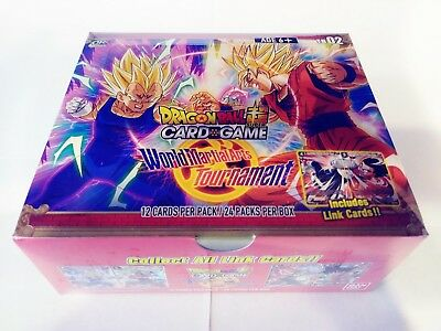 *limited Print* Dragon Ball Super Tcg World Martial Arts Tournament Booster Box
